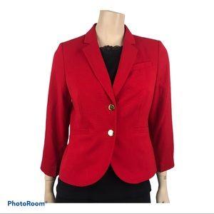 Calvin Klein Women's Red Button Front Red Blazer
